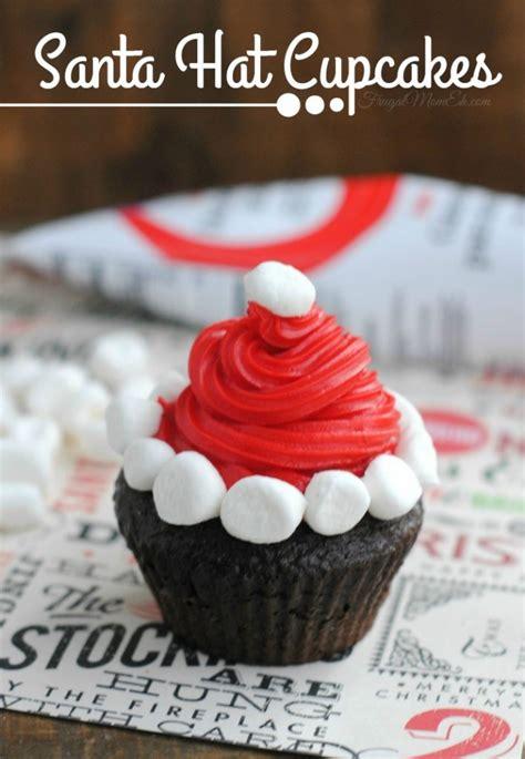 santa hat cupcakes frugal mom eh