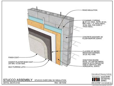 stucco wall section stucco assembly english detail pinterest search and