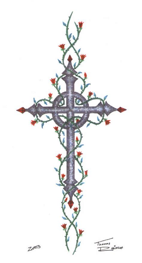 celtic cross with roses i like the cross not the vines