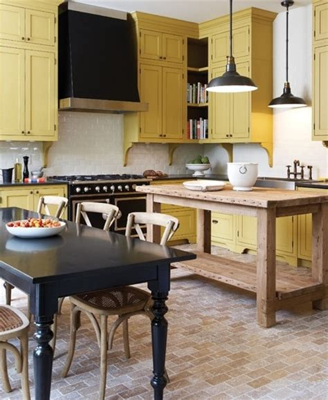yellow painted kitchen cabinets kitchens with color diy