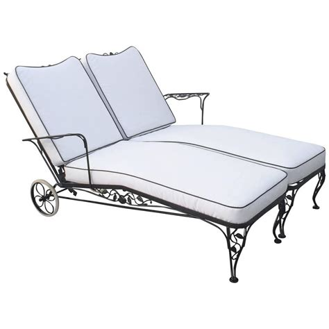 Wrought Iron Chaise Lounge Wrought Iron Lounge Chaise For Two Designed By Woodard At 1stdibs