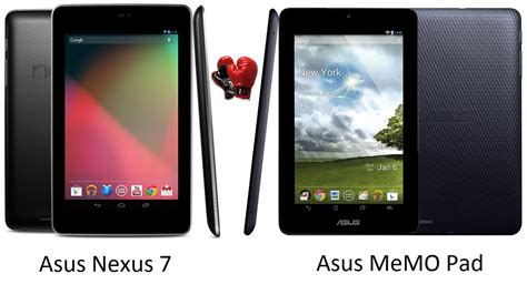 asus memo pad nexus 7 vs asus memo pad specs comparison gadgetian