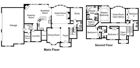 custom built homes floor plans inspirational custom floor
