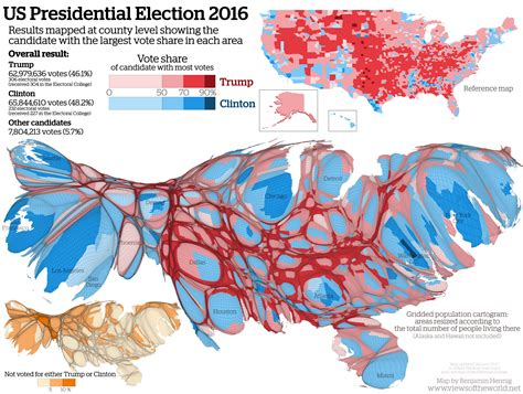map of us election results views of the world rediscovering the world