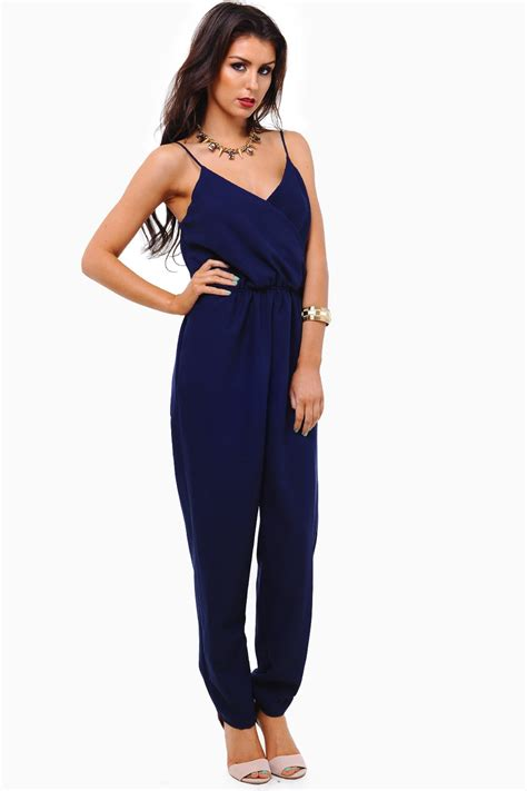 Religi Jumpsuit 2 In 1 Navy zack strappy jumpsuit in navy iclothing