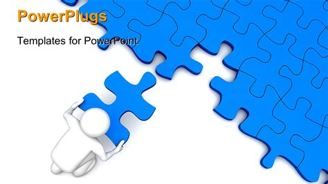 Powerpoint Template 3d Character Placing The Missing Piece Over The Puzzles 24088 Puzzle Pieces Template For Powerpoint