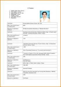 Application Letter Cv Exles Of Resumes 8 Sle Curriculum Vitae For