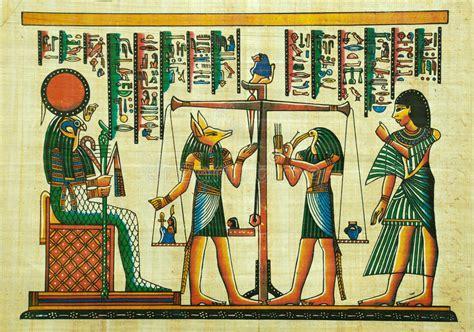 imagenes pinturas egipcias pintura egipcia del papiro fotograf 237 a editorial imagen de