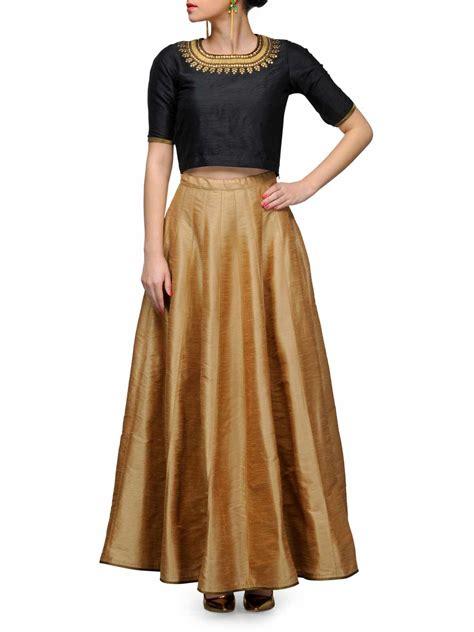 Tops Skrit buy prevasu skirtset black silk cleopatra top skirt at jivaana