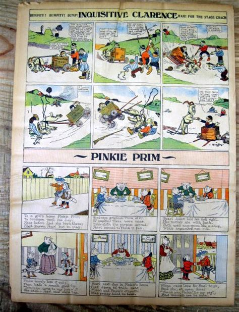 newspaper comic section 8 1908 sunday newspaper color comics sections w brer