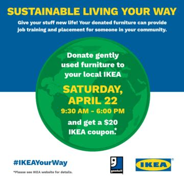 ikea furniture donation celebrate earth day with goodwill 174 ikea charlotte this