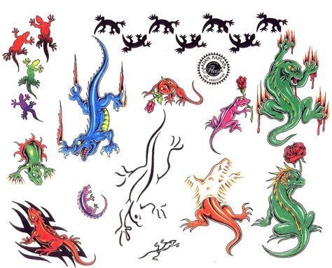 gecko tattoo designs free 5 tatoos lizard designs free