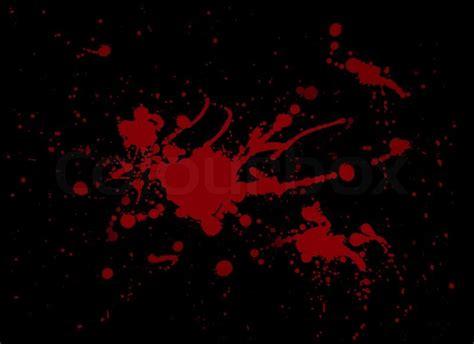 Black Blood blood splash painting on black stock photo colourbox