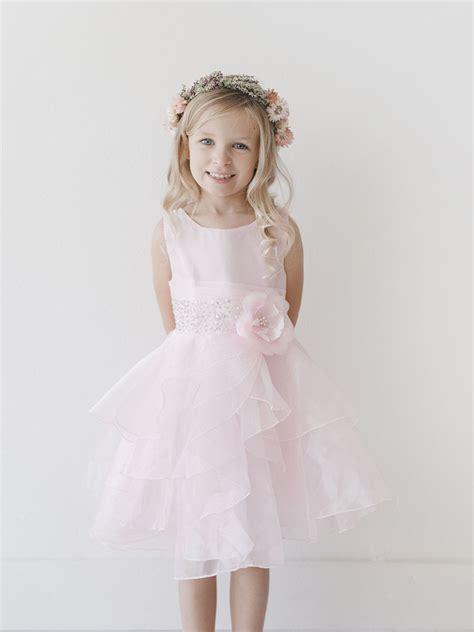 Pink Layered Dress pink organza layered dress w beading