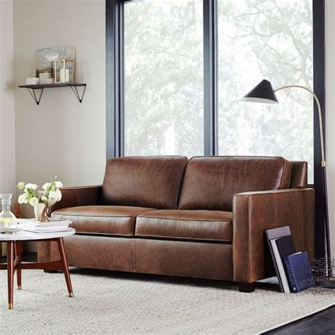 west elm henry sectional henry 174 leather sofa molasses west elm