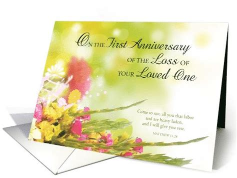 printable death anniversary cards first 1st anniversary of loved one s death religious