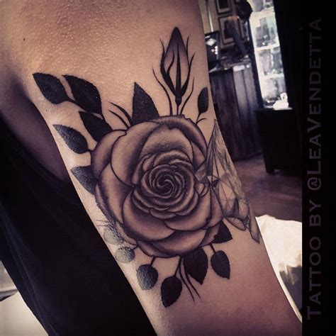 rose tattoo on arm black tattoos askideas