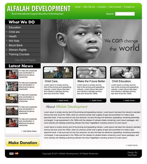 best templates for ngo website ngo website design3 by pakiboy on deviantart