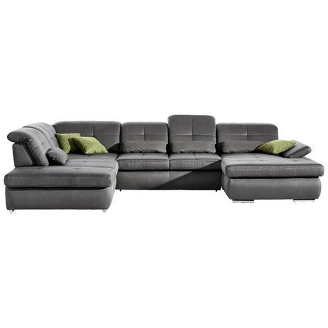 sofa wohnlandschaften beldomo style wohnlandschaft inkl nierenkissen grau jetzt