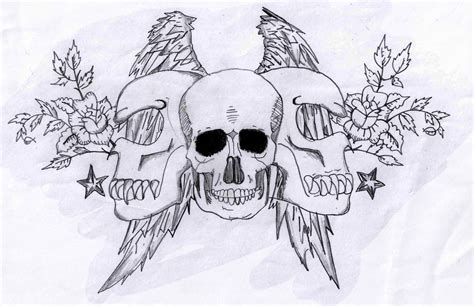 skull with wings tattoo designs skull and wings design by koast08 on deviantart