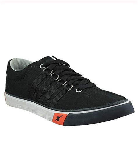 sparx black canvas shoes sm162blk buy sparx black