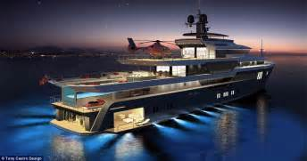 Ultimate Garage Designs superyacht with helipad supercar storage and infinity