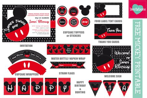 Decorations For Welcome Home Baby by Freebie Mickey Amp Minnie Inspired Printables Leo Loves