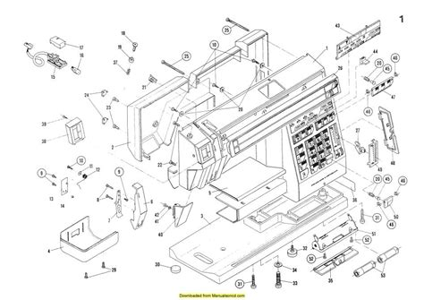 elna sewing machine parts diagram elna 7000 sewing machine service parts diagrams manual