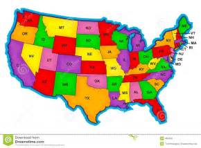 us map image bold us map with abriviations stock photo image 463490