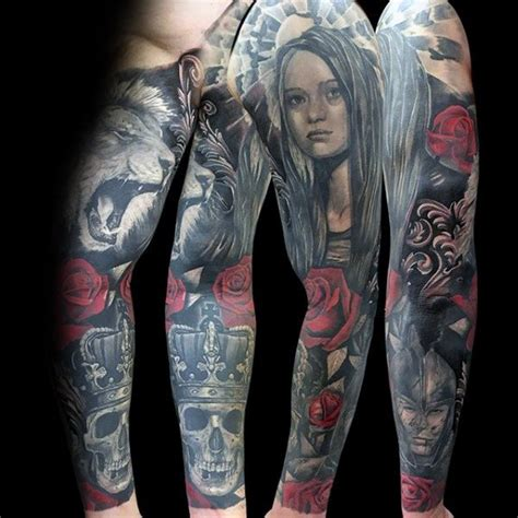 portrait sleeve tattoo designs 60 sleeve designs for masculine ideas