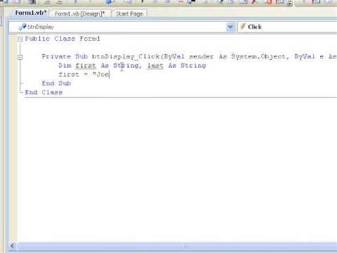 visual basic tutorial for beginners free visual basic 2008 for beginners tutorial 4 1 variables