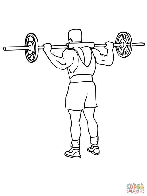 free printable coloring pages exercise barbell morning exercise coloring page free