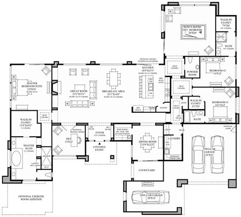 contemporary floor plan modern house