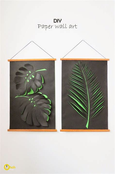 diy wall art creative and simple ideas to use creative ideas diy paper leaf wall art icreativeideas com