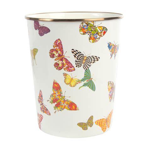 Enamel Garden Accessories Buy Mackenzie Childs Butterfly Garden Enamel Waste Bin