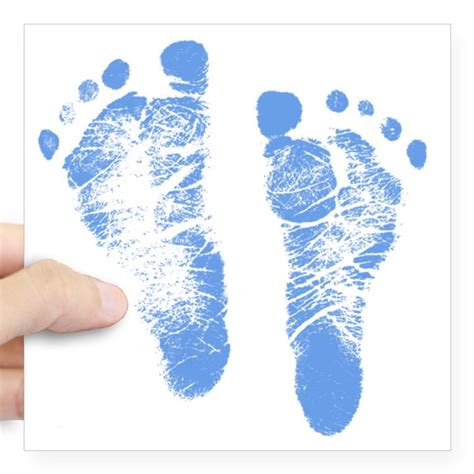 Baby Boy Footprint baby boy footprints square sticker 3 quot x 3 quot by admin cp36805364