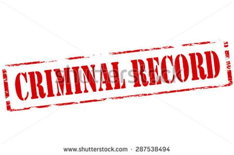 Thug Criminal Record Rubber St With Text Criminal Record Inside Vector Illustration Stock Vector