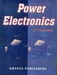 power diodes pdf power electronics by p s bimbra free pdf free engineering books worldwide power