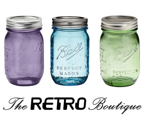 ball mason ball mason jars blue green purple vintage style ebay