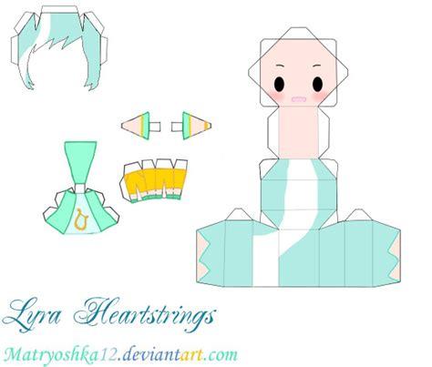 My Papercraft - lyra heartstrings my pony papercraft by