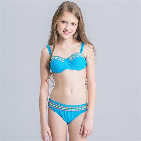 swimwear two piece for kid aliexpress com buy candy color girls bikini 2017 two