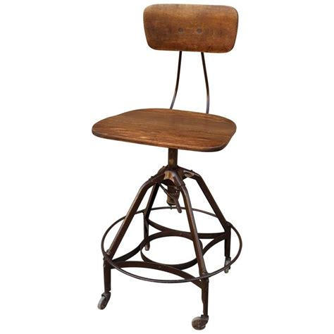 Drafting Chairs And Stools by Early Industrial Toledo Drafting Stool At 1stdibs