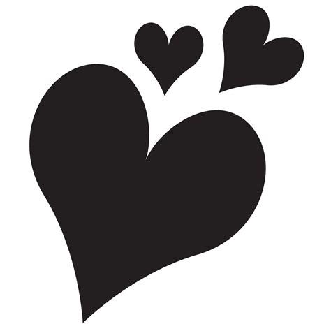 heart group stencil for glitter quartermarks for horses