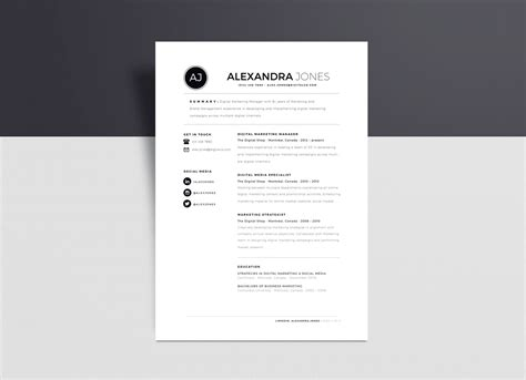 Free Minimalist Resume Template In Indd Ai Word Format Good Resume Minimalist Resume Template Free