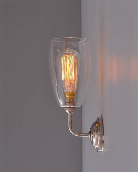 Contemporary Wall Light With Upton Glass Shade Fritz Fryer