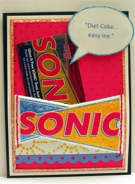 Sonic Gift Card - recycled sonic cup gift card by olivia martin via flickr teacher appreciation ideas