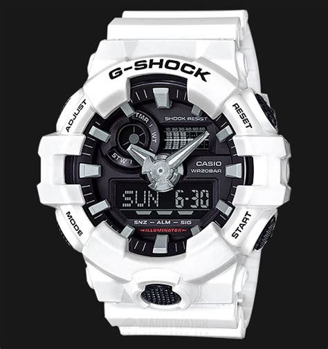 casio g shock ga 700 7adr standard analog digital resin