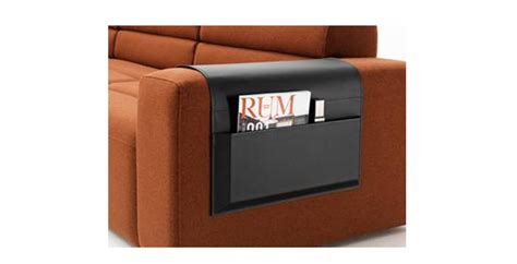 sofa accessories black bonded leather magazine holder