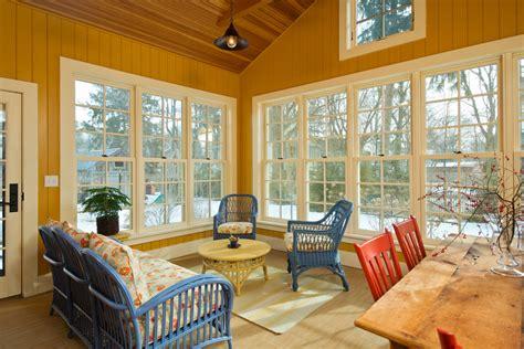 barn reinvented leed platinum home farmhouse sunroom