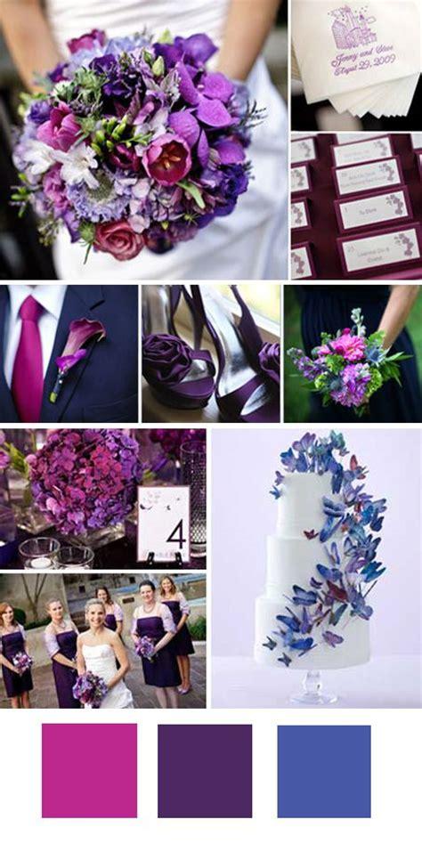 fuschia and purple wedding theme fuschia purple indigo wedding ideas